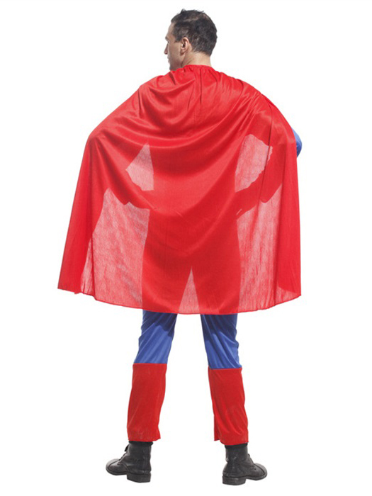 vilanya three pieces long sleeve adult superman male halloween costume online on. Black Bedroom Furniture Sets. Home Design Ideas