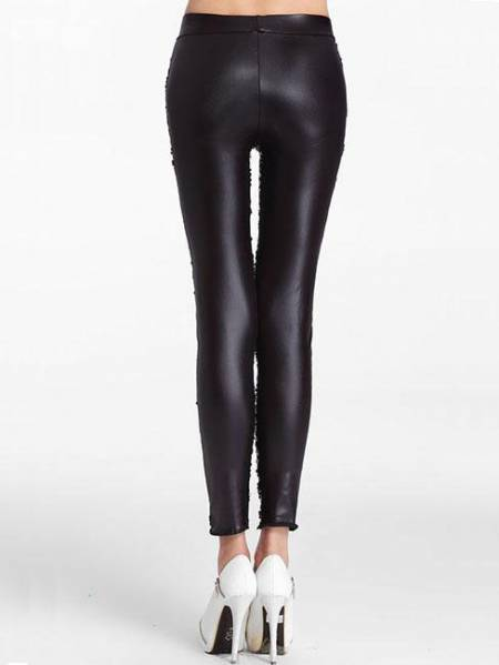 e3cb07d0643cb ... Slim Glittering Sporty Sparkly Front Black Sequin Leggings ...