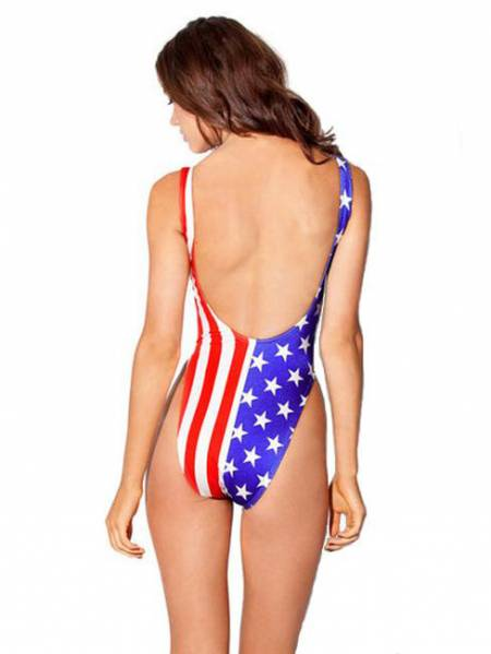 Latest Stars Stripes Stretchy Best One Piece Bathing Suits