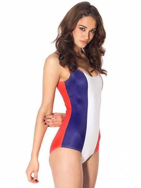 France Flag Print Hottest One Piece Swimwear