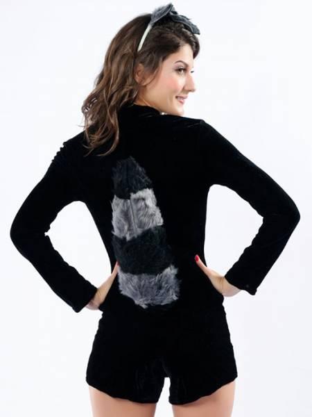 Vilanya 3 Pieces Long Sleeve Ruched Racy Raccoon Cute Women Halloween Costumes On Sale