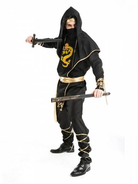 Vilanya 5 Pieces Long Sleeve Printed Ninja Cool Halloween Costumes For Men