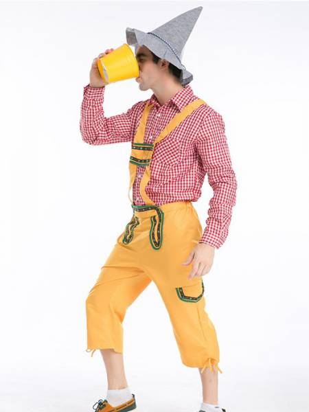 New Arrival Vilanya Long Sleeved 3 Pieces Farmer Cheap Halloween Costumes For Men