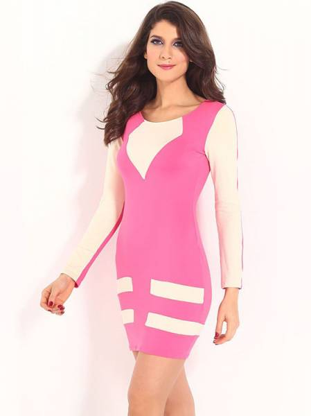 Cheap Long Sleeved Mini Casual Bodycon Dresses For Sale