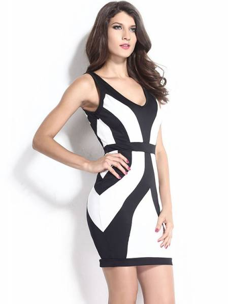 Stylish Sleeveless Straps Bodycon Mini Dress Online