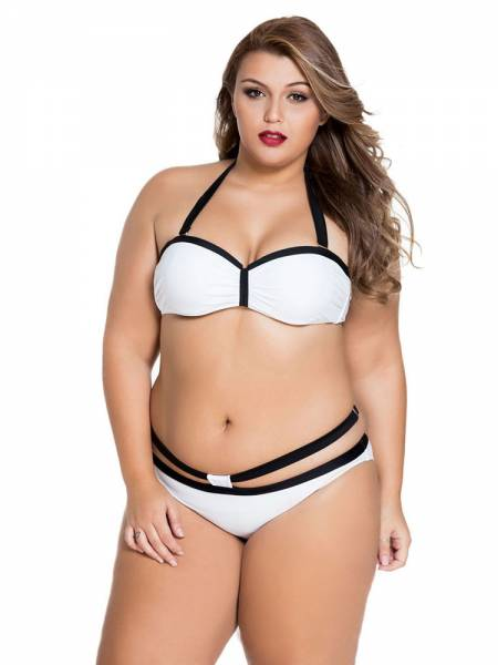 Unique Halterneck Push-up Underwired & Padded Bikini with Detachable Straps