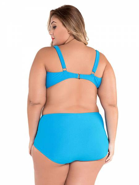 Sweetheard Neck Pullover Ruched Padded Bikini Top and High Waisted Bottom