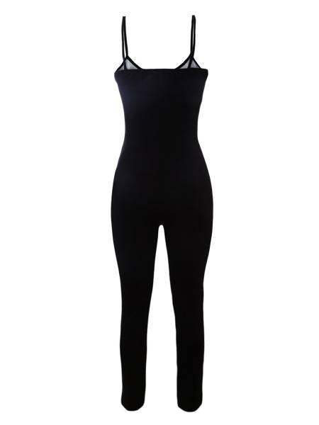 Narrow Straps Sleeveless Halloween Skeleton Printing Costume Jumpsuit