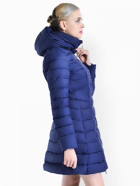 15b69d582a10 ... A-line Two-way Zipper Detachable Hooded Padded Parka Jacket for Women  ...