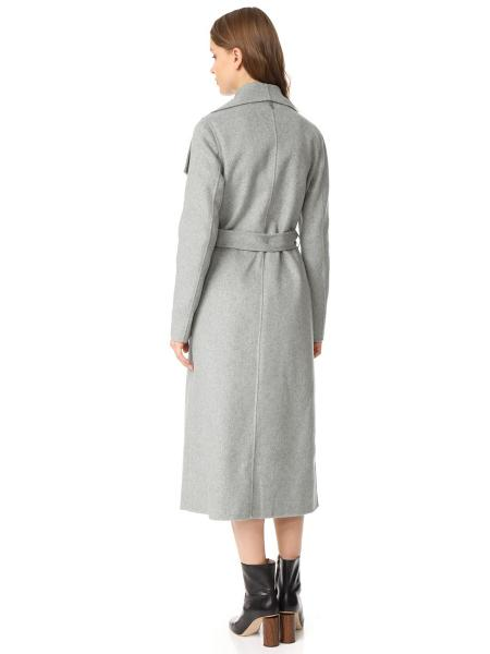 Brief Big Lapel Long Sleeves Extra Long Open Front Wrap Trench Coat Women