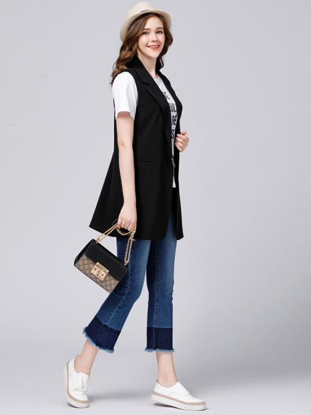 Open Front Relaxed Fit Sleeveless Thick Fashion Waistcoat for Women