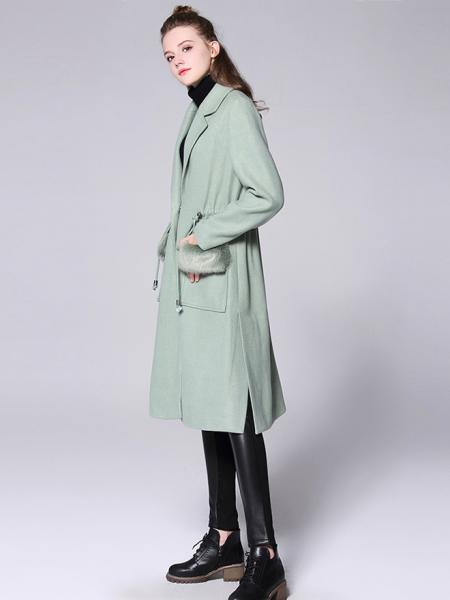 Press Studs Single Breasted Thick and Long Women Wool & Blend Walker Coat