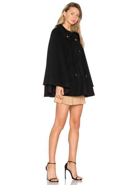 Single Breasted Press Studs Closure Womens Cloak Coat for Spring