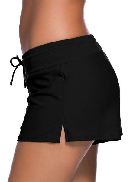 Smooth and Loose Fitting Elastic Drawstring Swimming Boardshort for Women
