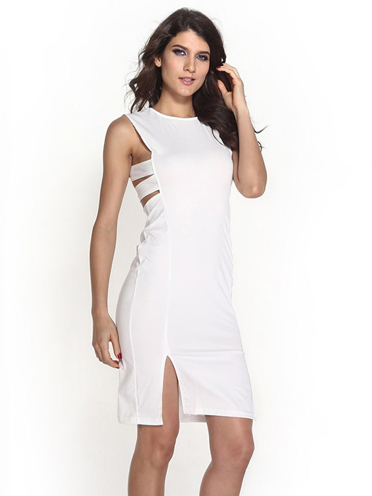 Stores Deep V Neck Backless Plain Bodycon Dresses going out