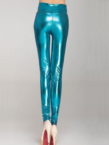 Sapphire High Waist Skinny Stretch Silver/Gold/Black Liquid Leggings