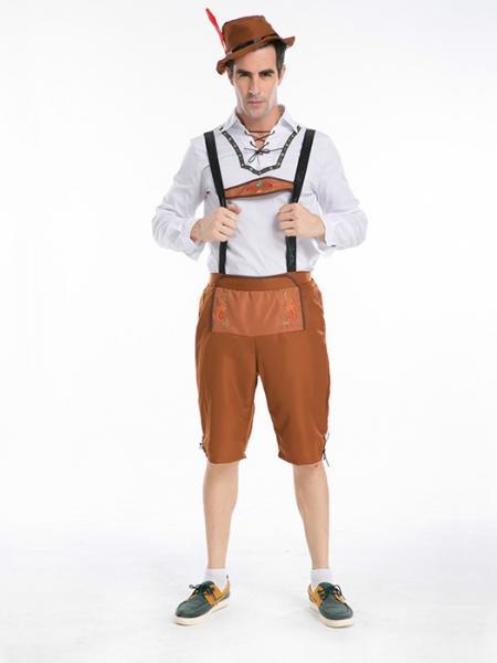 White Brown Vilanya Long Sleeve 3 Pieces Germany Oktoberfest Easy Mens Halloween Costumes