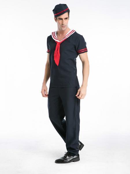 Navy Vilanya Short Sleeve Navy 3 Pieces Captain Sailor Halloween Mens Costumes Online