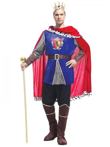 Blue Red Gray Vilanya Seven Pieces Long Sleeve Adult King Halloween Costumes Mens Online