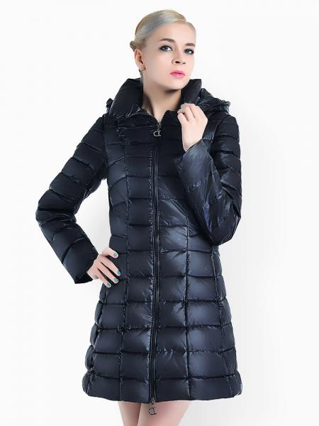 Tow-way Zipper Ladies Parka Jacket Sale with Detachable Hood