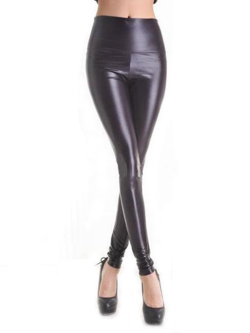 Vilanya PVC Slim Faux Leather Sexy Leggings