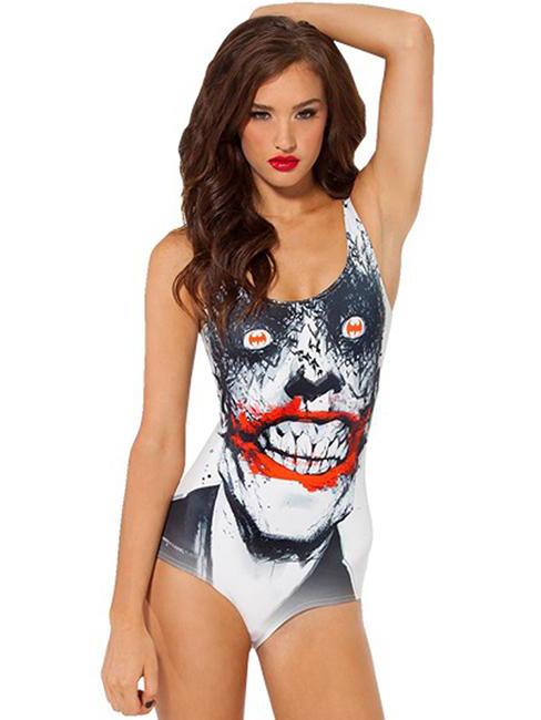 Summer Popular Joker Cartoon Pattern One-piece Swimwear