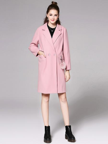 Long Sleeves Double Breasted Solid Womens Long Wool Peacoat for Adult