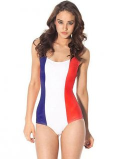 France Flag Print Hottest One Piece Swimwear
