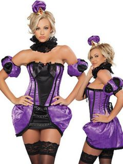 Vilanya Strapless 5 Pieces Black & Royal Purple Fun Halloween Costumes For Women