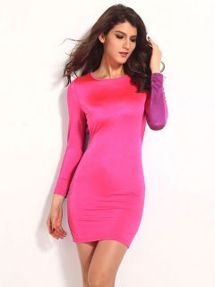 Vintage Three Quarter Sleeve High-waist Sexy Cut Out Back Bodycon Mini Dress Online