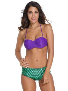 Little Mermaid Ariel Bikini with Underwired Pushup Padded Top & Shimmery Bottom