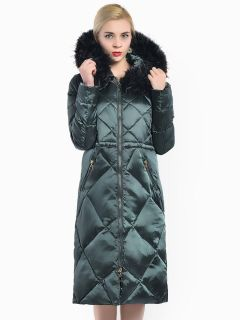 Two-way Zipper Thick Long Hooded Ladies Winter Parka Coat with Faux Fur